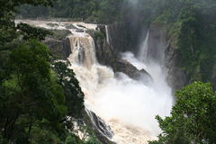 Barron falls in flood Stock Image