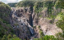 Barron Falls i Barron Gorge National Park, Kuranda Australien arkivfoton
