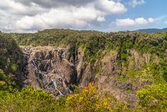 Barron Falls i Barron Gorge National Park, Kuranda Australien royaltyfri fotografi