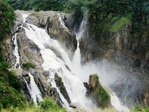 Barron Falls Kuranda Queensland during the wet season stock images