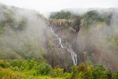 Barron Falls på en Misty Day royaltyfri fotografi