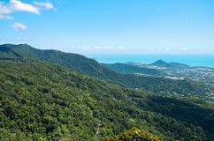 Barron Gorge Canopy and Coral Sea Royalty Free Stock Photo