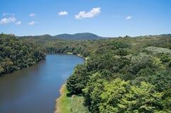 Barron River och Rainforest arkivbilder