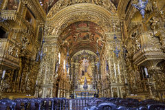 Barroque church. Interior of the Third Order of the Church of St. Francis of Penance in the convent of St. Anthony Royalty Free Stock Photo