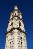 Barroque clock tower, Aguilar de la Frontera. Stock Images