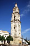Barroque clock tower, Aguilar de la Frontera. Stock Image