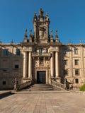 Barroque facade of San Martin Pinario monastery stock photos