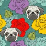Barros amasados y papel pintado inconsútil de las flores Fotografía de archivo