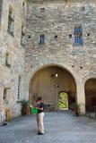 Barroux城堡  库存图片