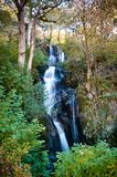The Barrow Cascade waterfall, Ashness Beck near Derwent Water, Lake District, Cumbria royalty free stock photos