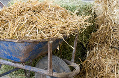 Barrow with straw Royalty Free Stock Photography