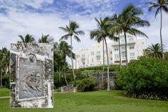 Barrs海湾公园-哈密尔顿,百慕大-联合国科教文组织奴隶路线项目 免版税库存图片