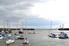 barry öhamn, marina södra Wales, UK royaltyfri bild