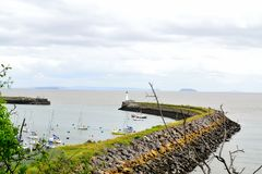 barry öhamn, marina södra Wales, UK royaltyfria bilder