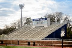 Barry college football stadium with empty seats royalty free stock photos