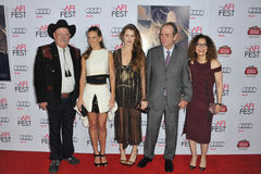 Barry Corbin & Hilary Swank & Grace Gummer & Tommy Lee Jones & Dawn Laurel-Jones Stock Images
