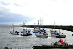 Barry-Inselhafen, Jachthafen Südwales, Großbritannien Stockfotos