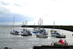 Barry Island harbour, marina South Wales, UK Stock Photos