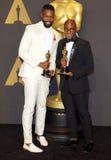 Barry Jenkins och Tarell Alvin McCraney royaltyfria foton
