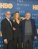 Barry Levinson, Michelle Pfeiffer, and Robert DeNiro. Director/Executive Producer Barry Levinson, actor Michelle Pfeiffer, and actor Robert DeNiro arrive for Royalty Free Stock Photography