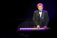 Barry Manilow on Broadway. Legendary pop star Barry Manilow on stage at Stock Photos