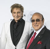 Barry Manilow und Clive Davis Lizenzfreie Stockfotos