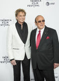 Barry Manilow und Clive Davis Stockfotografie