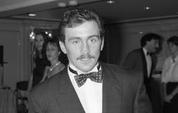 Barry McGuigan. Irish boxer and former World featherweight champion, at a celebrity event in London on October 18, 1990 Stock Photo