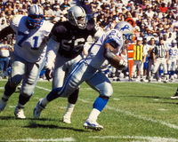 Barry Sanders, Detroit Lions lizenzfreies stockbild