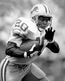 Barry Sanders. Detroit Lions RB Barry Sanders, #20. (Image taken from B&W negative royalty free stock images