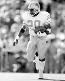 Barry Sanders. Detroit Lions RB Barry Sanders, #20. (Image taken from black and white negative royalty free stock images