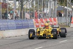 Barry Walker en un Fórmula 1 de Jordania EJ12 fotos de archivo