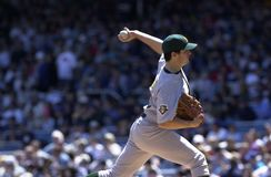 Barry Zito Oakland A's royalty-vrije stock foto's