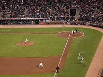 Barry Zito throwing a pitch to Padres Chase Headl Royalty Free Stock Photos