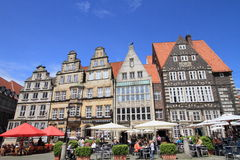 Bars and cafes at Bremen old town Royalty Free Stock Photo