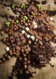 Bars of chocolate Stock Photos