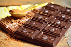 Bars of chocolate. Stock Images