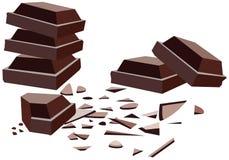 bars choklad Royaltyfri Fotografi