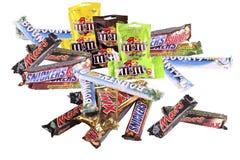 bars choklad Arkivbilder