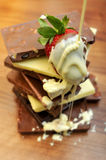 bars chokladjordgubben Royaltyfria Bilder