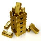 Bars d'or Image libre de droits