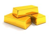 Bars d'or Photographie stock libre de droits