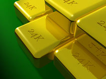 bars d'or 24K Image stock