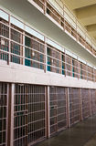 Bars de cellules de prison photographie stock