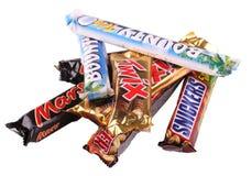 Bars de chocolat Image libre de droits