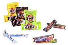 Bars de chocolat Photo stock