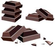 Bars de chocolat Photos libres de droits