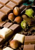 Bars de chocolat Images libres de droits