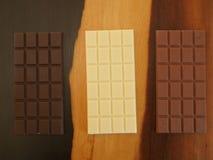 Bars de chocolat Photos stock