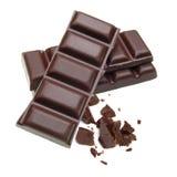 Bars de chocolat empilés Photos libres de droits